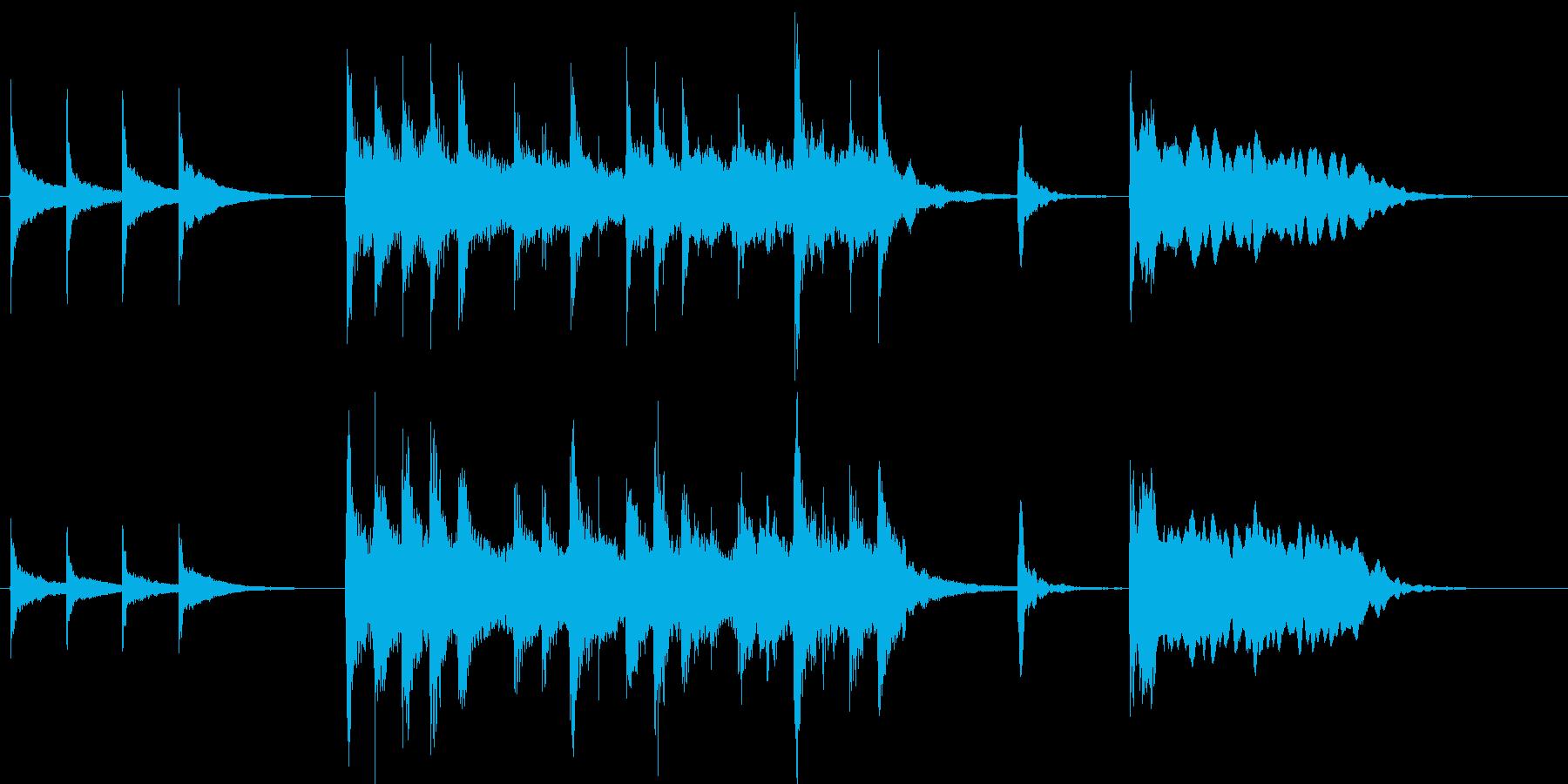和楽器・お囃子風ジングルの再生済みの波形