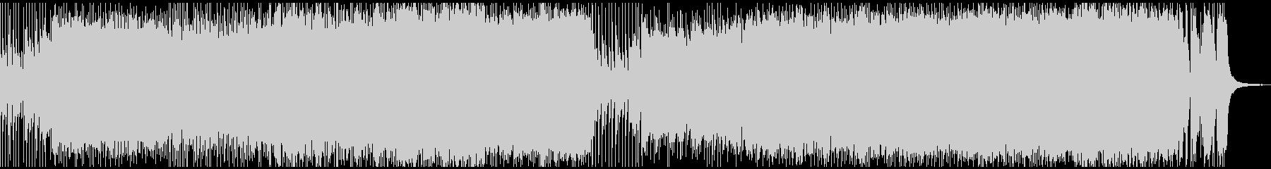ピアノとバンドサウンドのデジタルロック風の未再生の波形