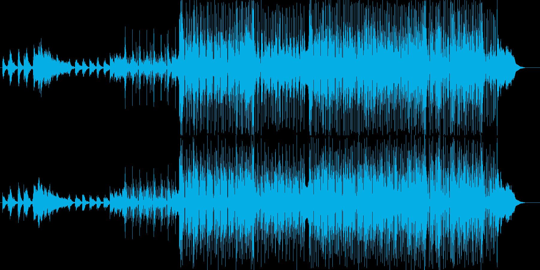 シャッフル(3連)のビートを基調にした…の再生済みの波形