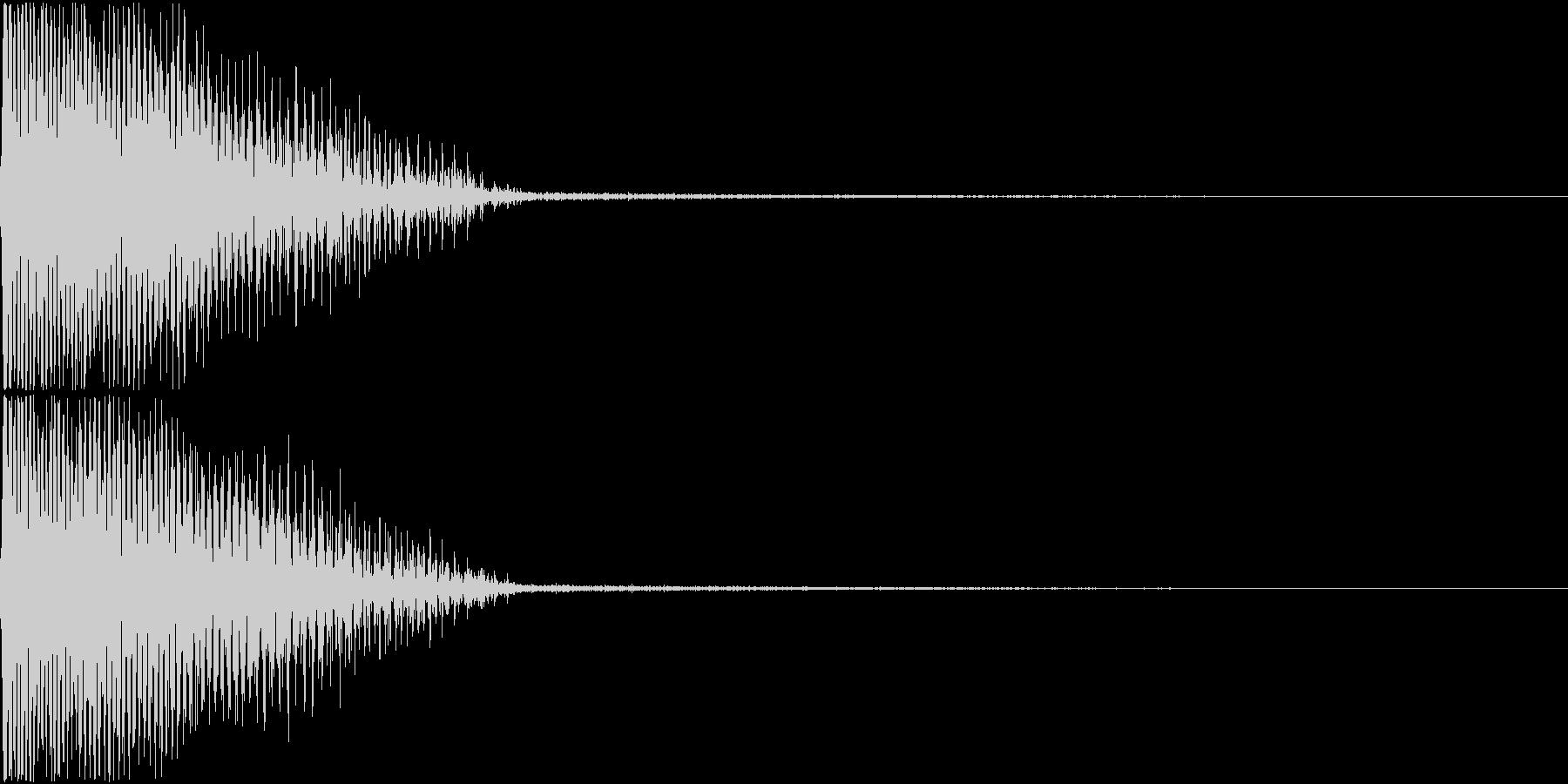 InvaderBuzz 発砲音 20の未再生の波形