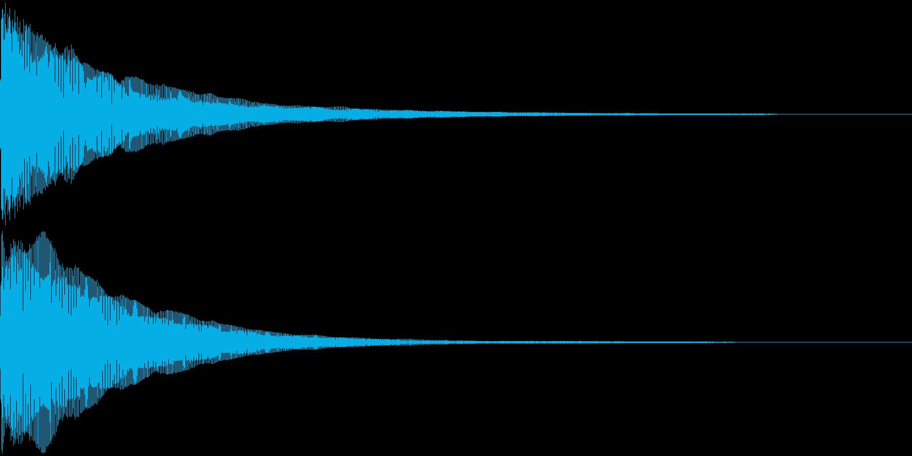 びよよよーん(ピアノ)動画系などの再生済みの波形