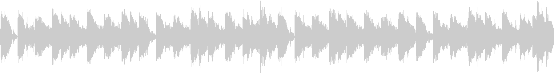 80年代のテクノポップ風ジングル_ループの未再生の波形