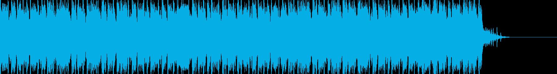 明るい民族風BGMの再生済みの波形