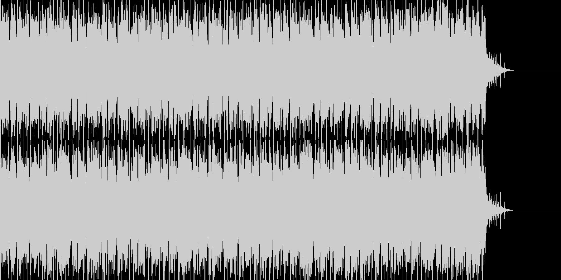明るい民族風BGMの未再生の波形