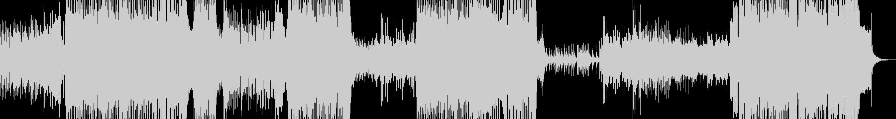 キラキラしたピアノフレーズのテクノの未再生の波形