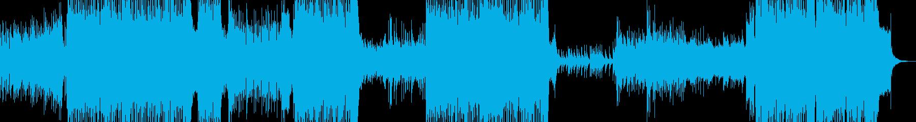 キラキラしたピアノフレーズのテクノの再生済みの波形
