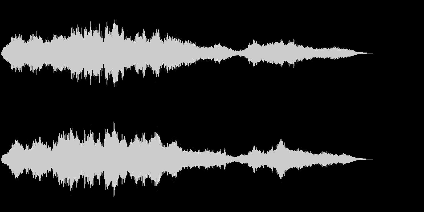 機械仕掛けのアイキャッチ音の未再生の波形