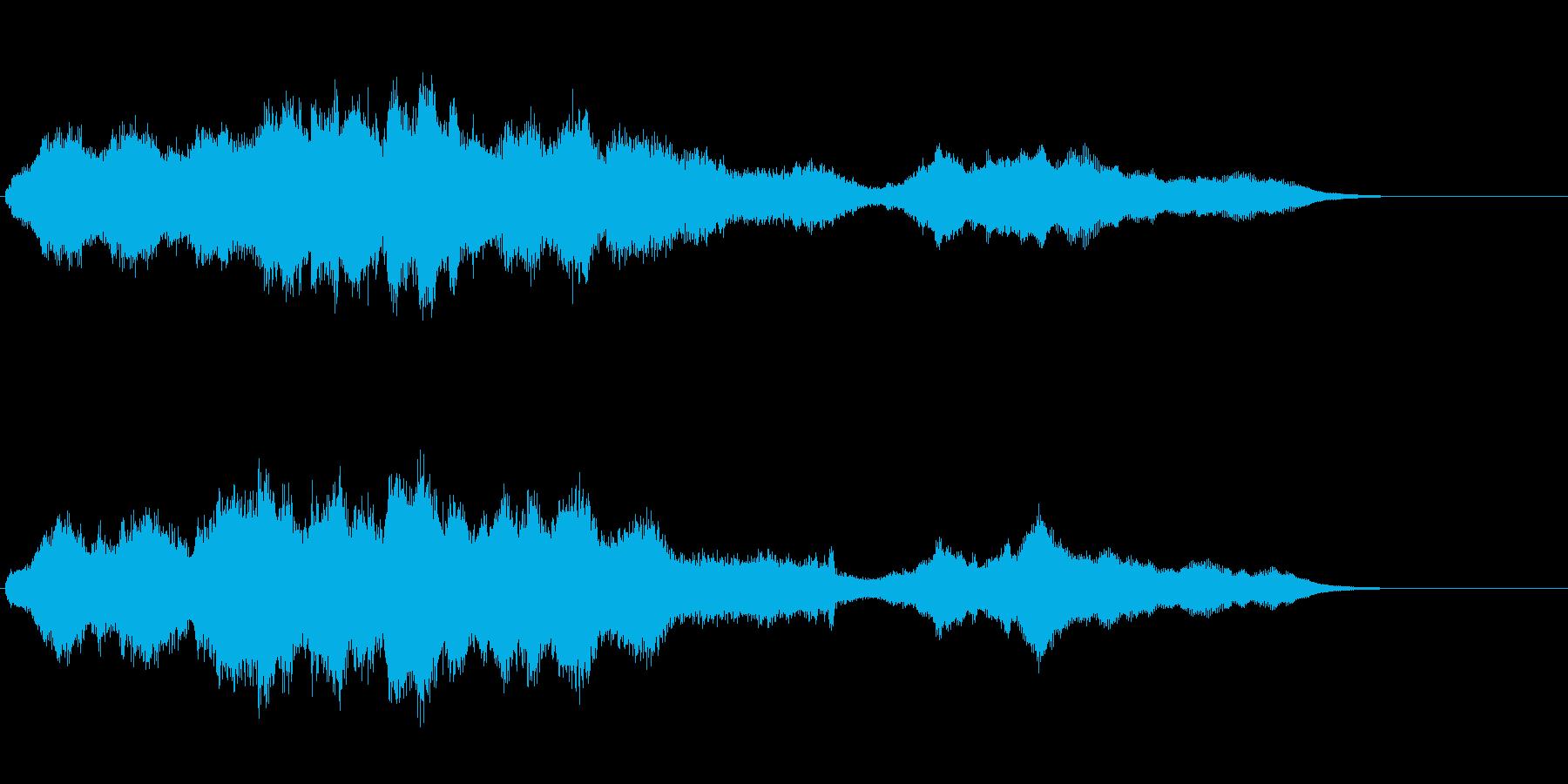 機械仕掛けのアイキャッチ音の再生済みの波形