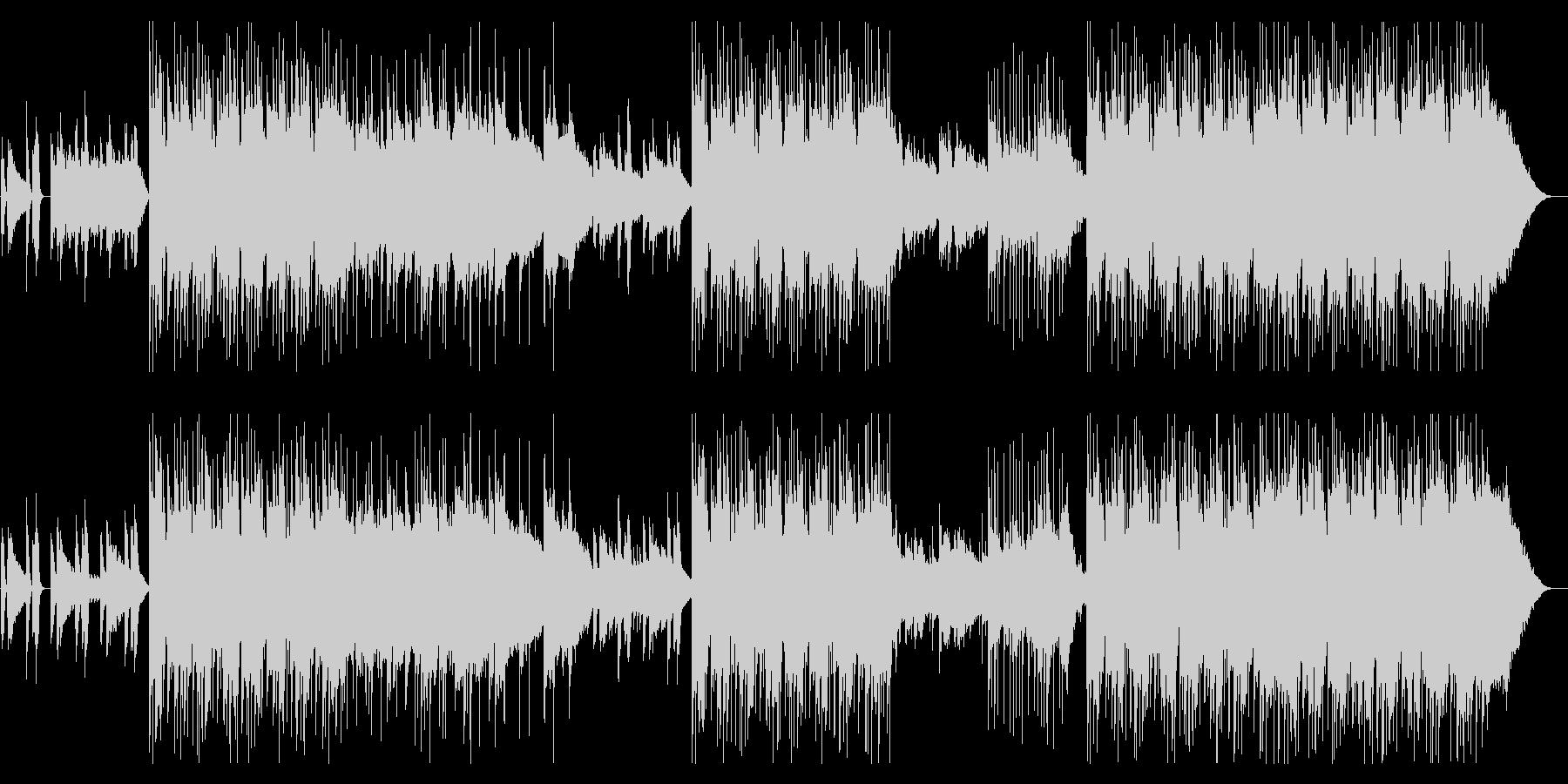 ピアノとギター洒落た雰囲気のポストロックの未再生の波形