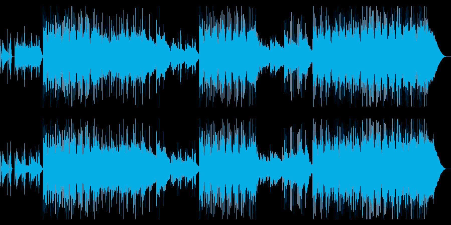 ピアノとギター洒落た雰囲気のポストロックの再生済みの波形