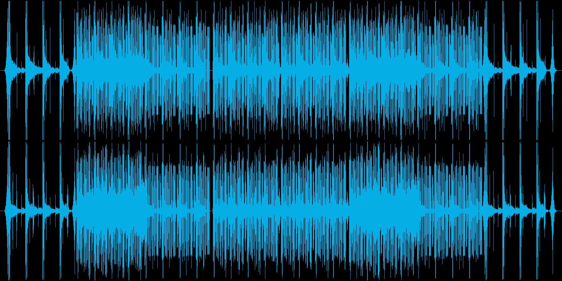 不安を煽る場面をイメージした曲の再生済みの波形