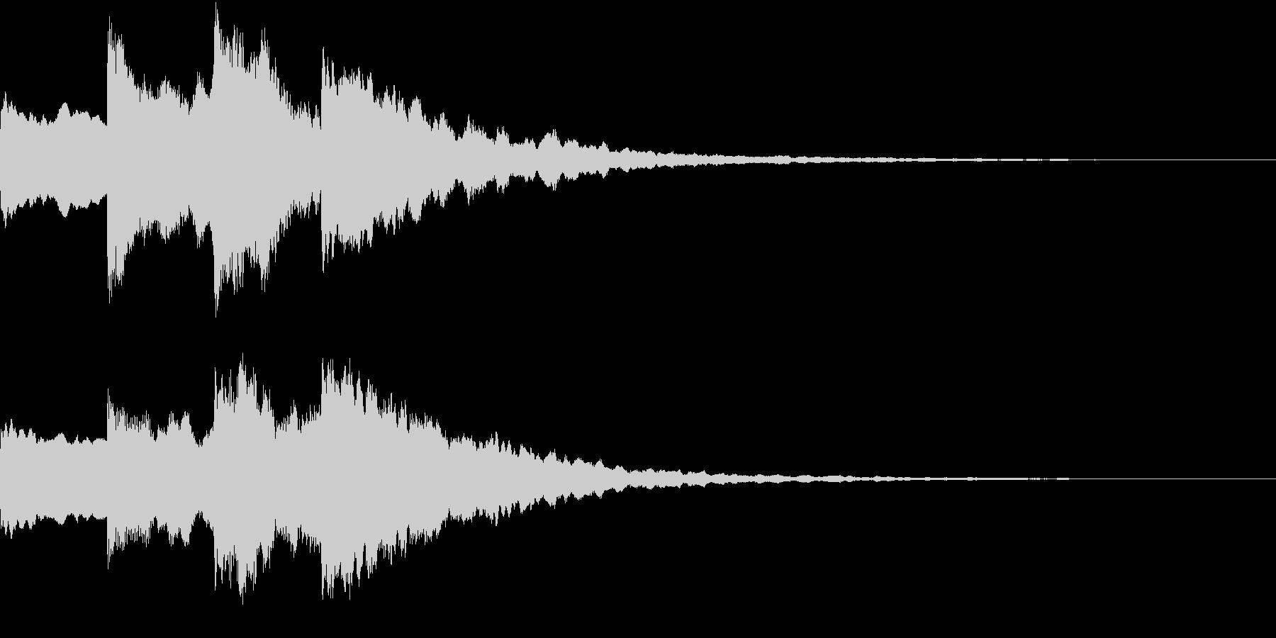 シンプル アナウンス 案内 放送 14の未再生の波形