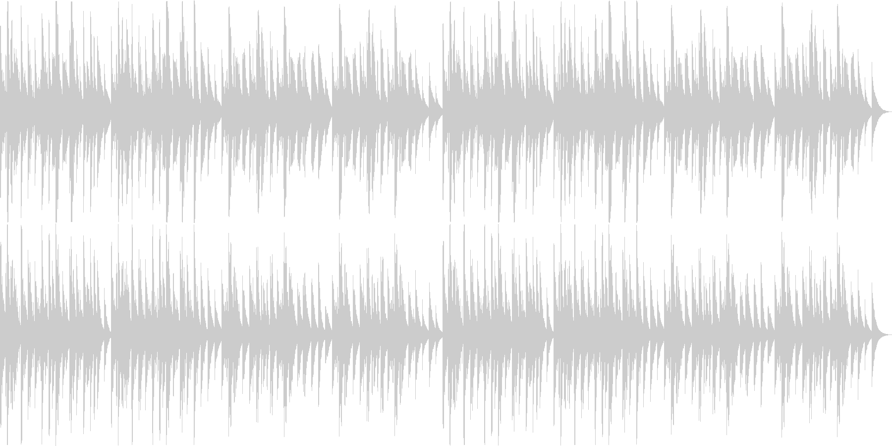 オルゴール 癒し 可愛い ヒーリングの未再生の波形