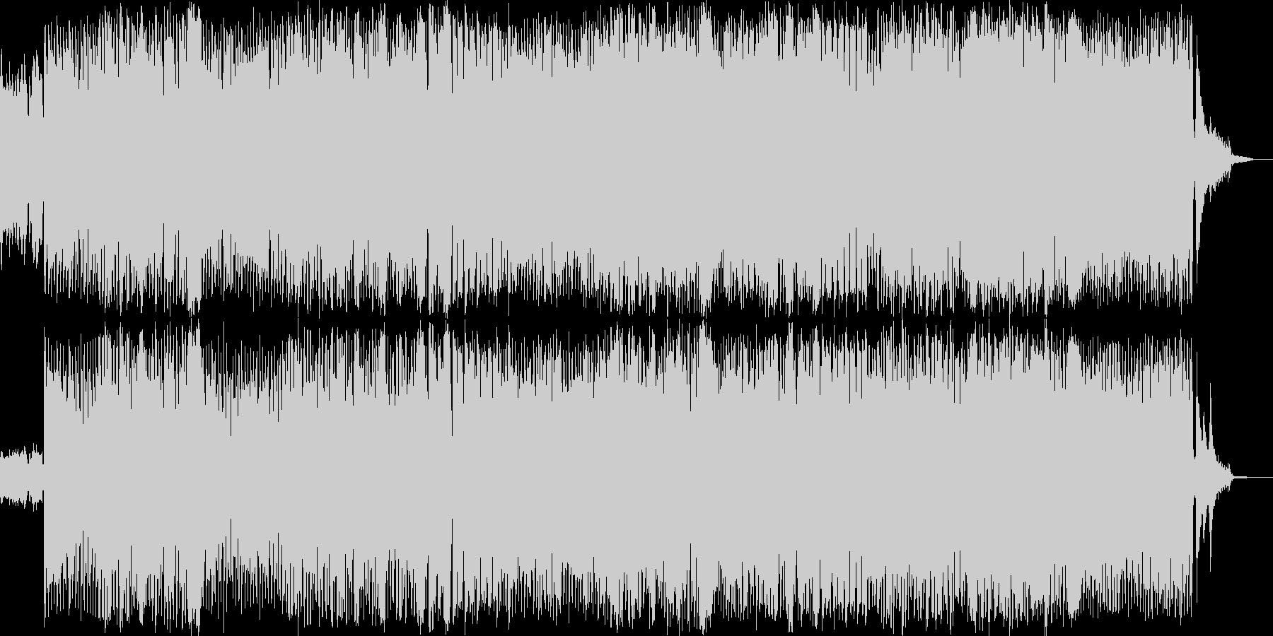 エレキギター主体のポップスの未再生の波形