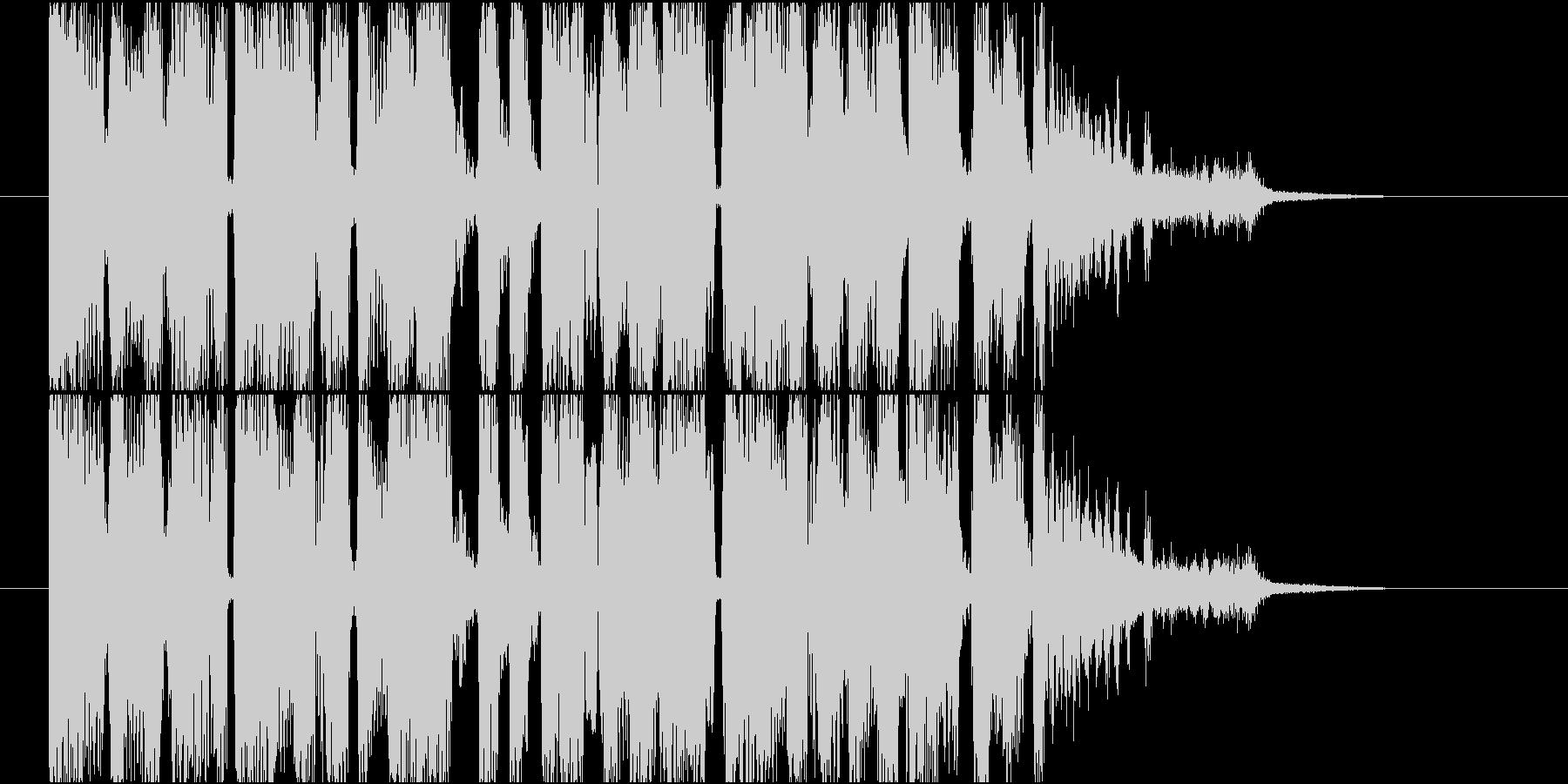 【ジングル】疾走感あるテクノ調の曲の未再生の波形