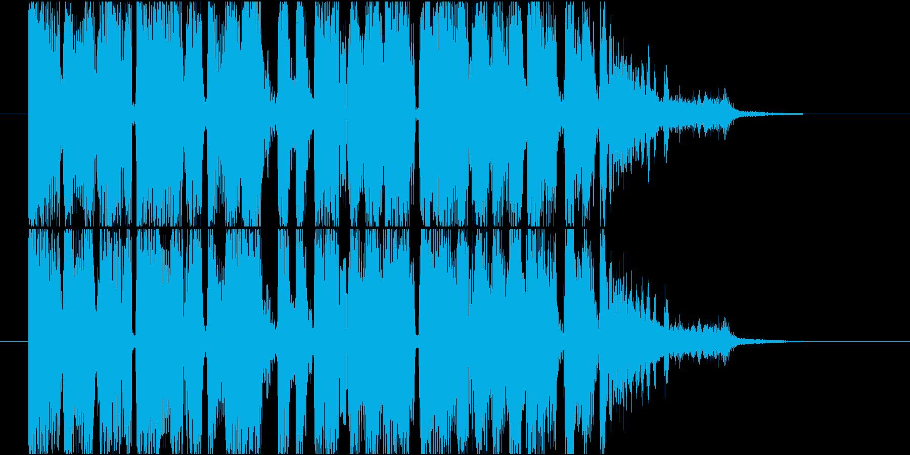 【ジングル】疾走感あるテクノ調の曲の再生済みの波形