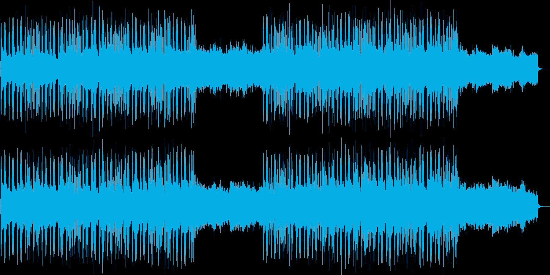 彷徨うようなギターとシンセによるトラックの再生済みの波形