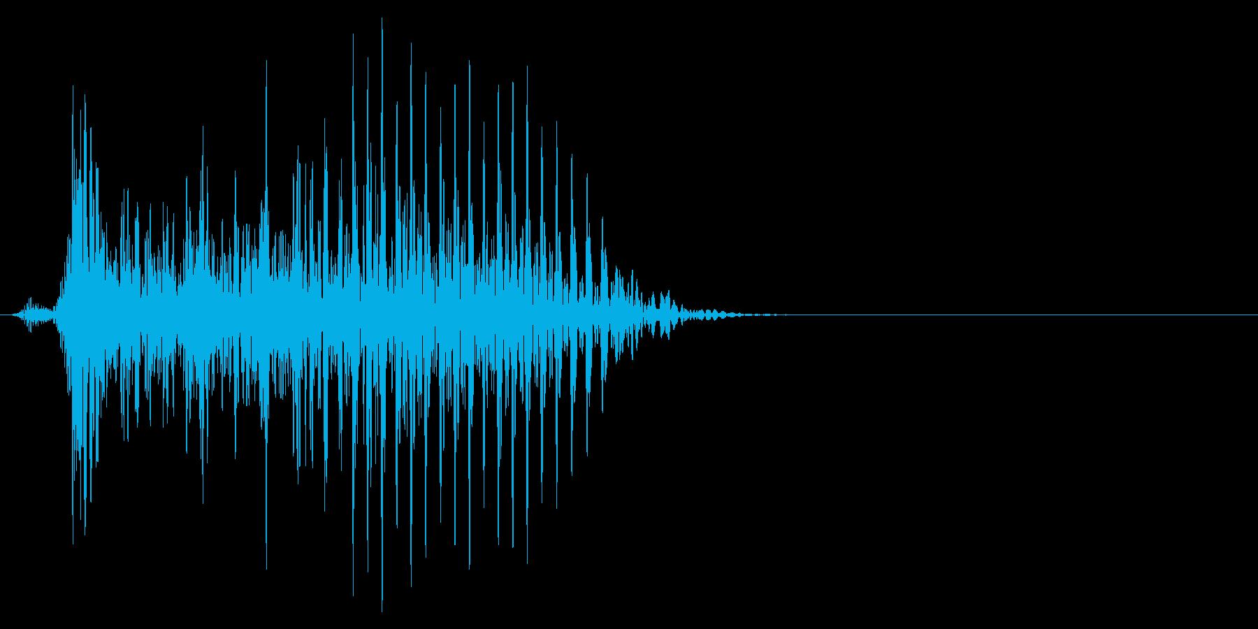 ゲーム掛け声ゾンビ1オー2の再生済みの波形