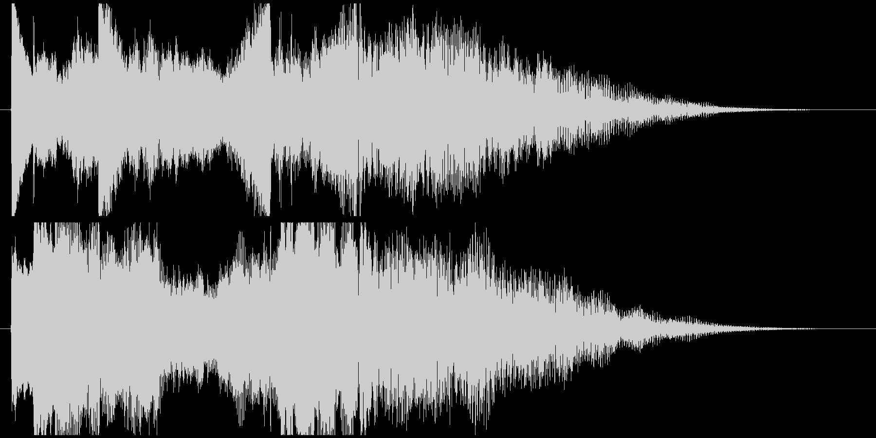 ピアノの透明感が美しいロゴの未再生の波形