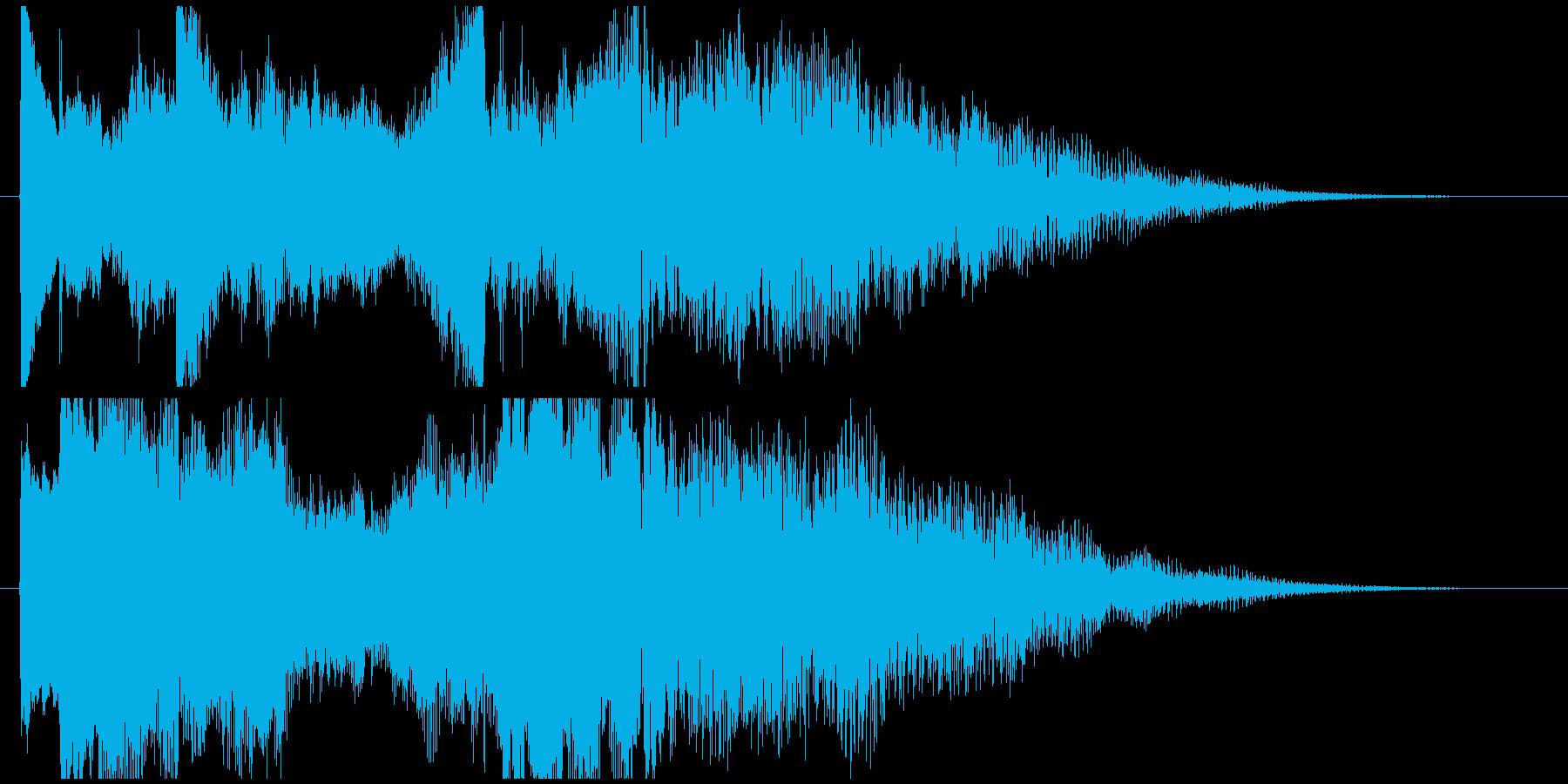 ピアノの透明感が美しいロゴの再生済みの波形