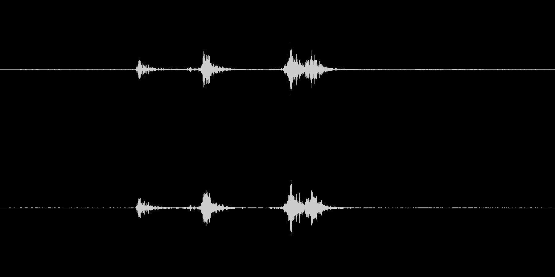 包丁の金属音ですの未再生の波形