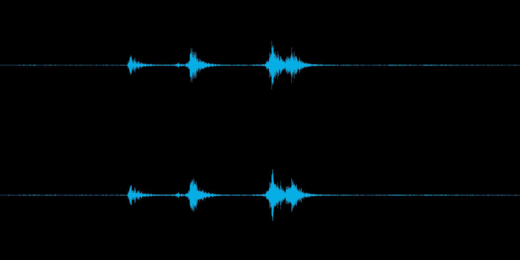 包丁の金属音ですの再生済みの波形
