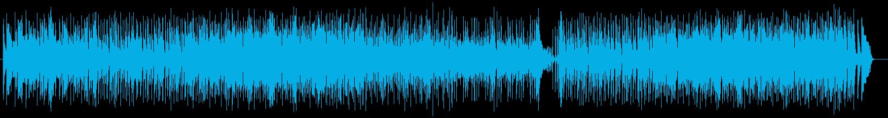 ポップで緩やかなシンセポップスの再生済みの波形