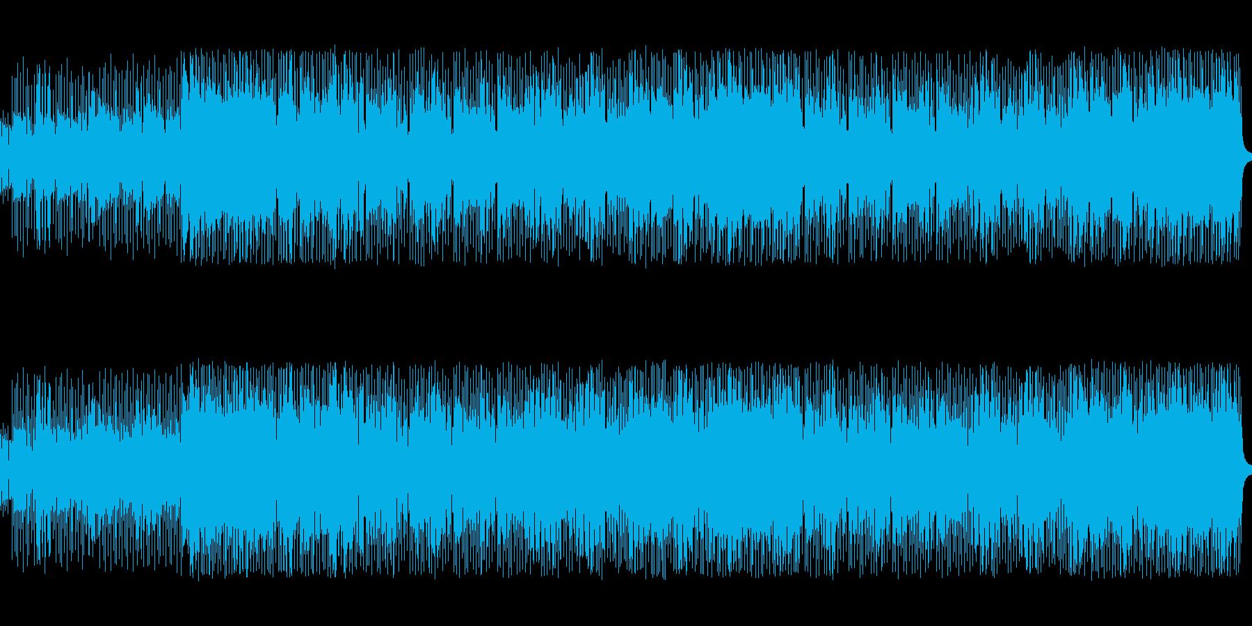 8ビートのノリのいいテクノポップスの再生済みの波形