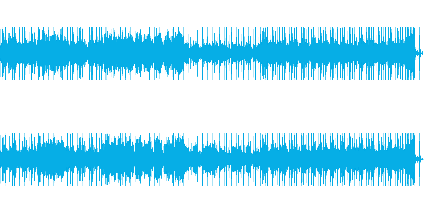 戦闘時の重厚、パワフルで怪しい雰囲気の曲の再生済みの波形