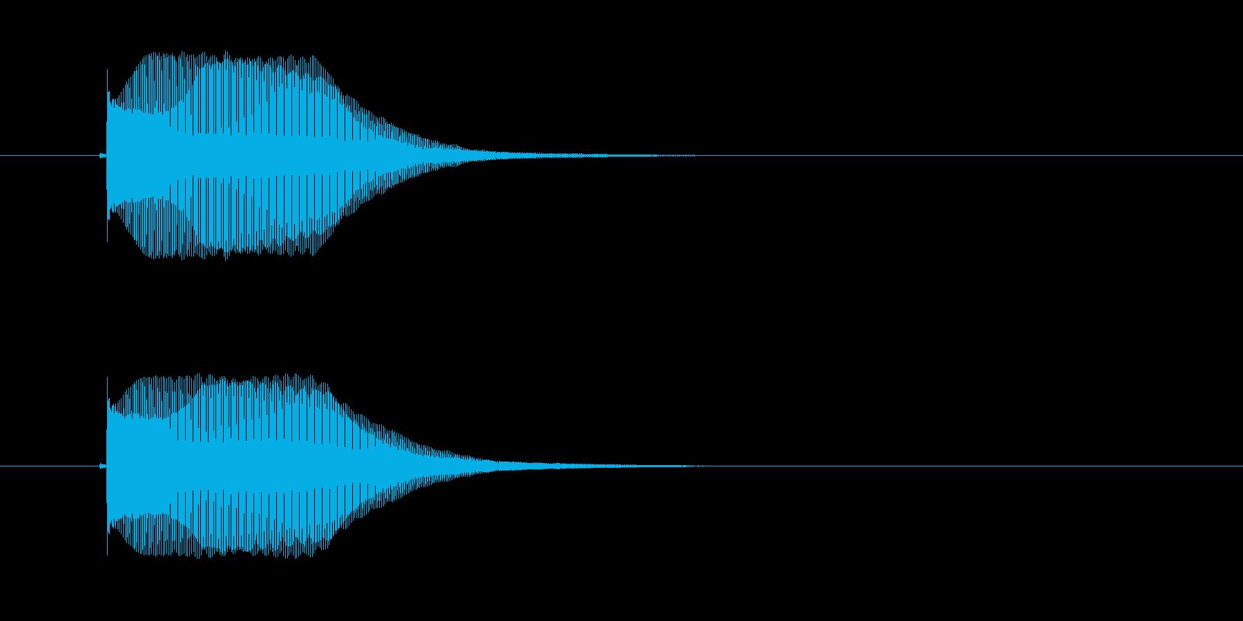 レトロなアナログシンセ音の再生済みの波形