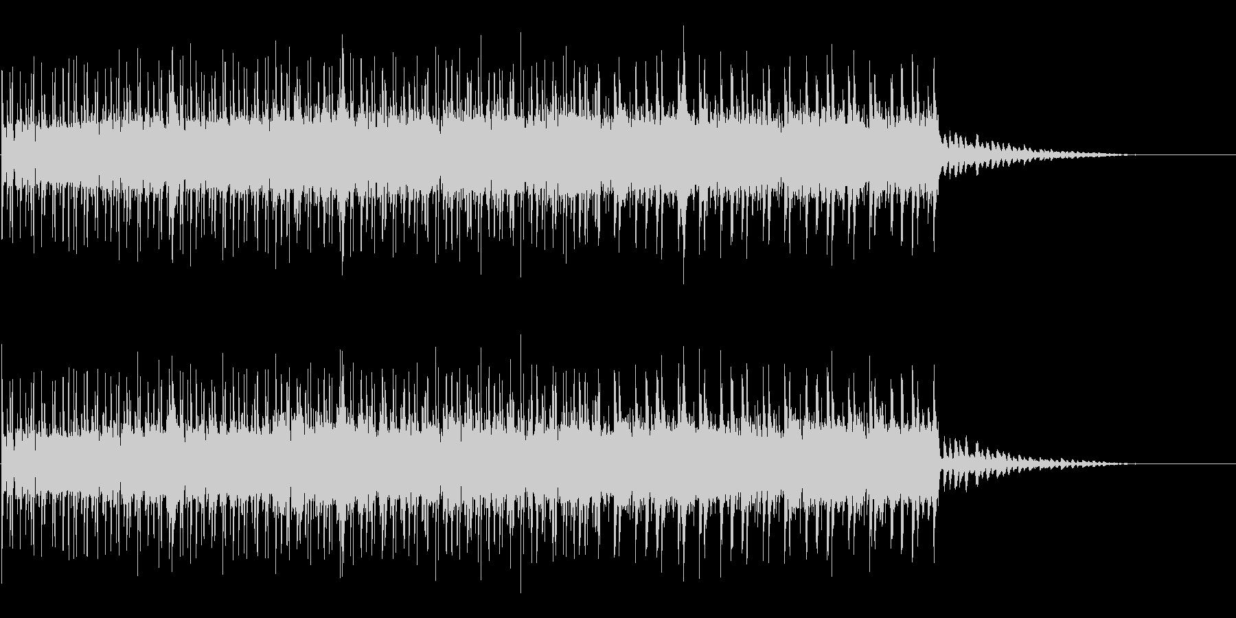 スリリングな場面が似合うBGMの未再生の波形