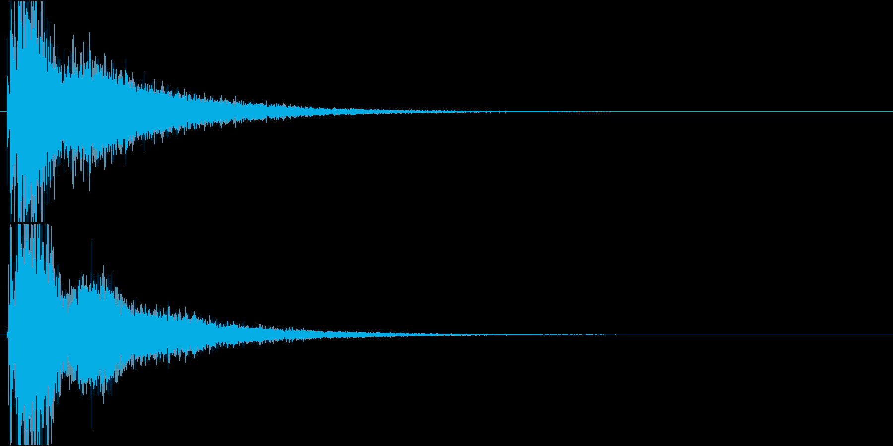 カキーン(氷系サウンド)の再生済みの波形
