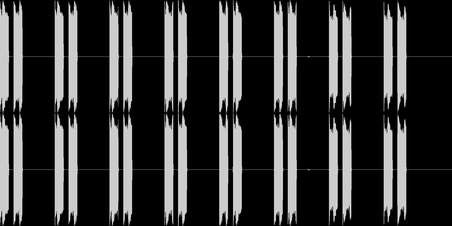 ピーピー(電子音、機械音)の未再生の波形
