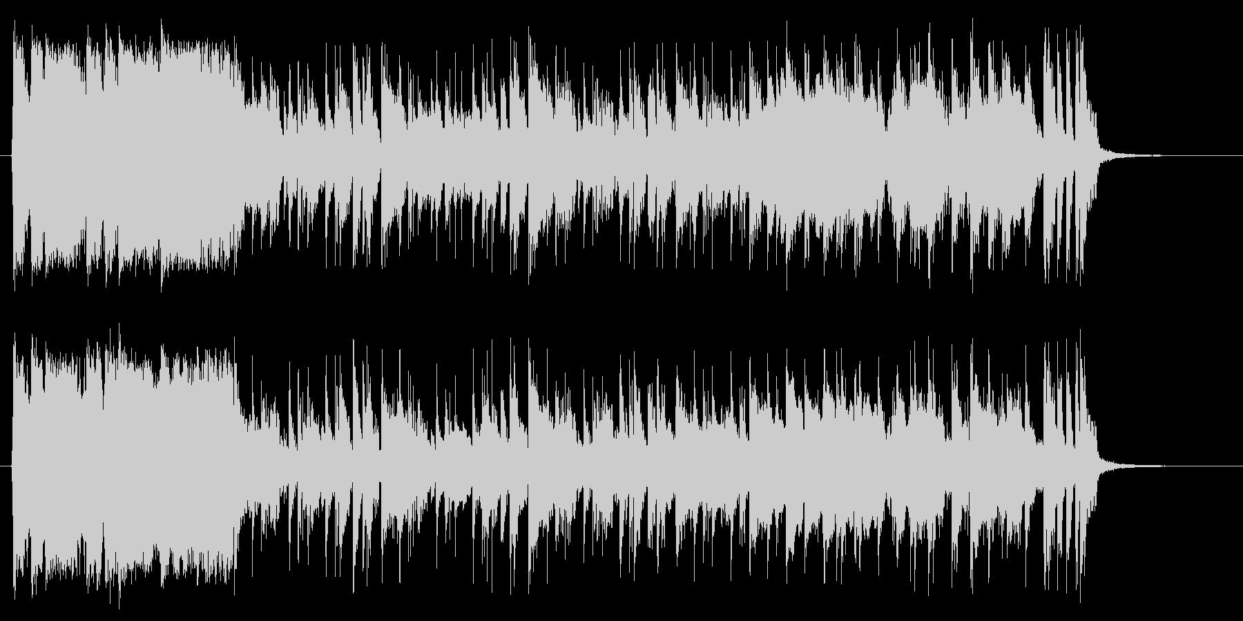 衝撃劇なフレーズから始まる軽快なポップ曲の未再生の波形