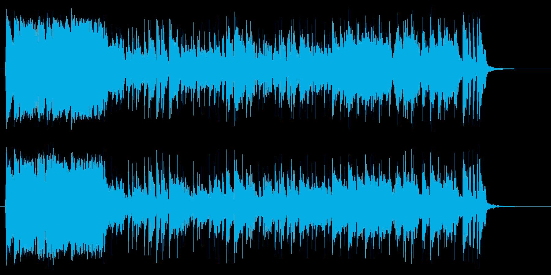 衝撃劇なフレーズから始まる軽快なポップ曲の再生済みの波形