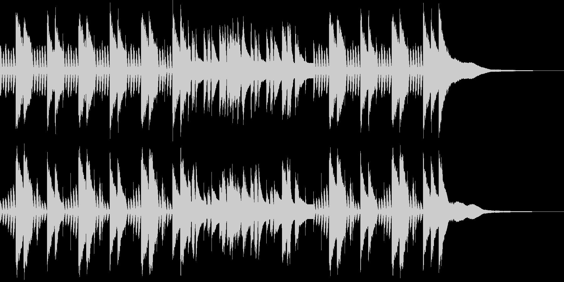 ほのぼのとした雰囲気のピアノBGMの未再生の波形