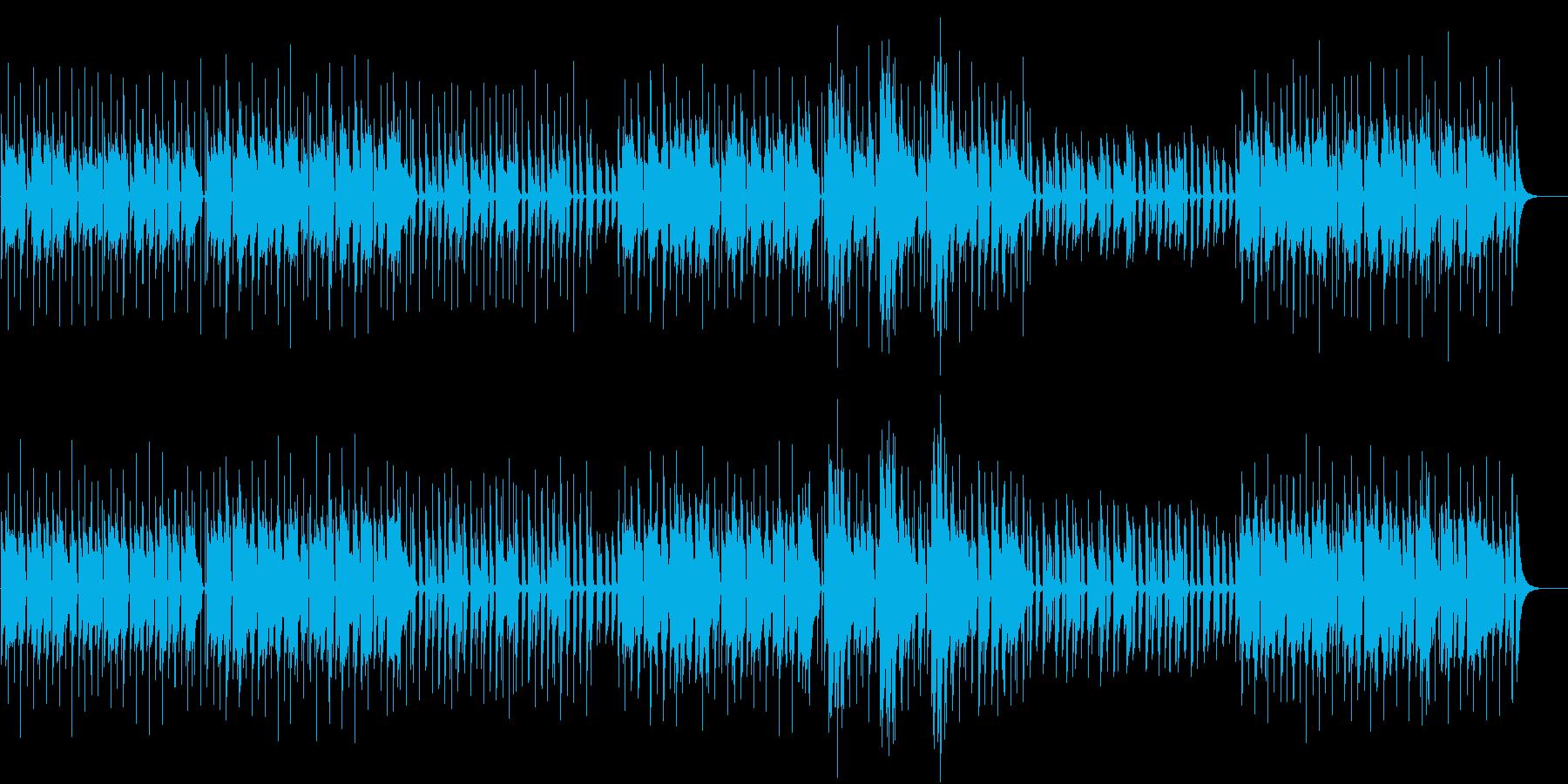 番組、動画配信用BGMの再生済みの波形
