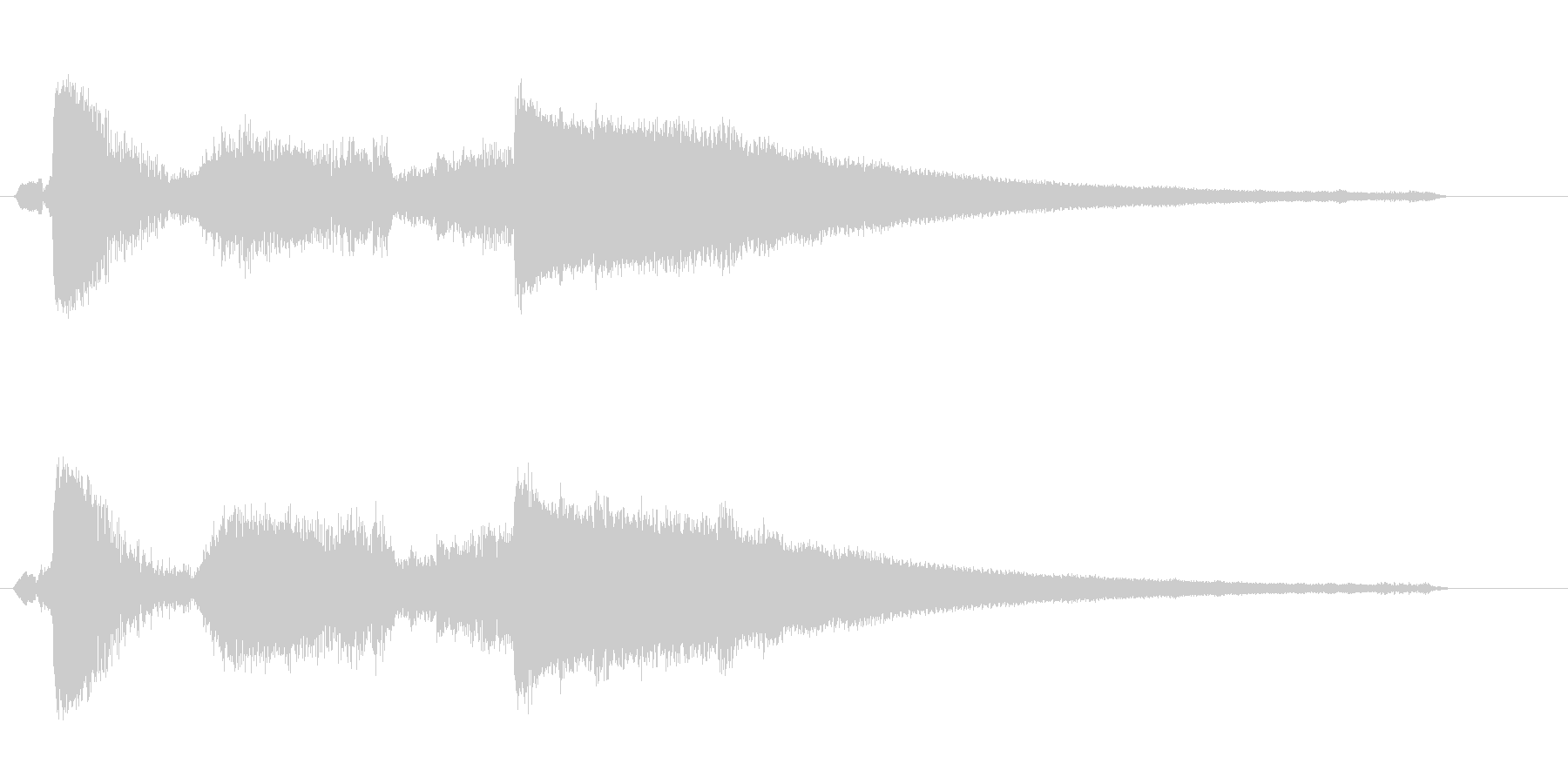 シャッリーンッ(レジが開いたときの音)の未再生の波形