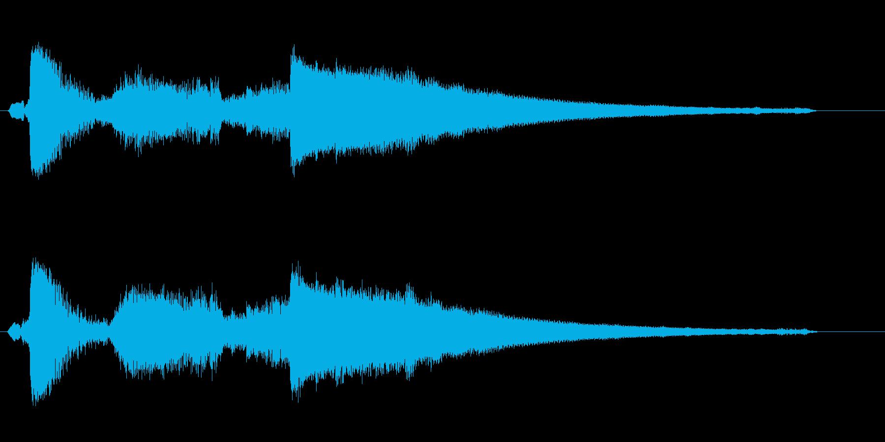 シャッリーンッ(レジが開いたときの音)の再生済みの波形