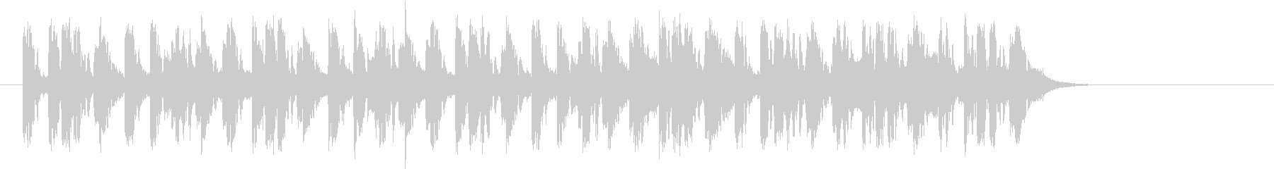 アンニュイでクールなEDMのジングルの未再生の波形