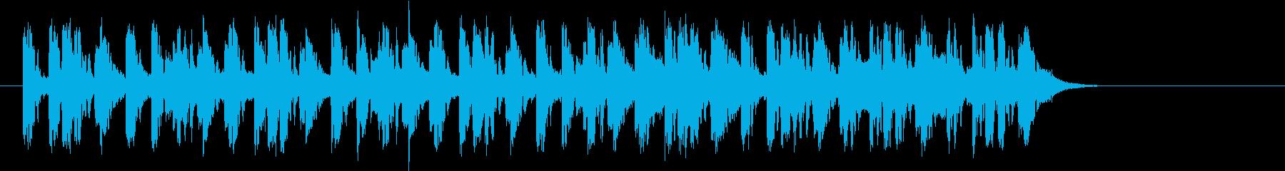 アンニュイでクールなEDMのジングルの再生済みの波形