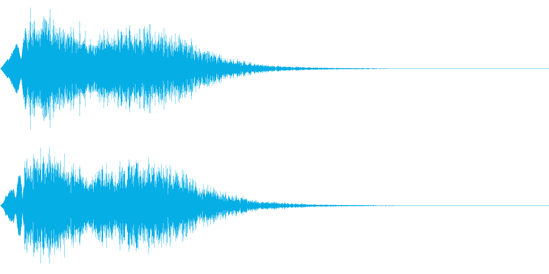 ピューン!1 降下音 エコーの再生済みの波形