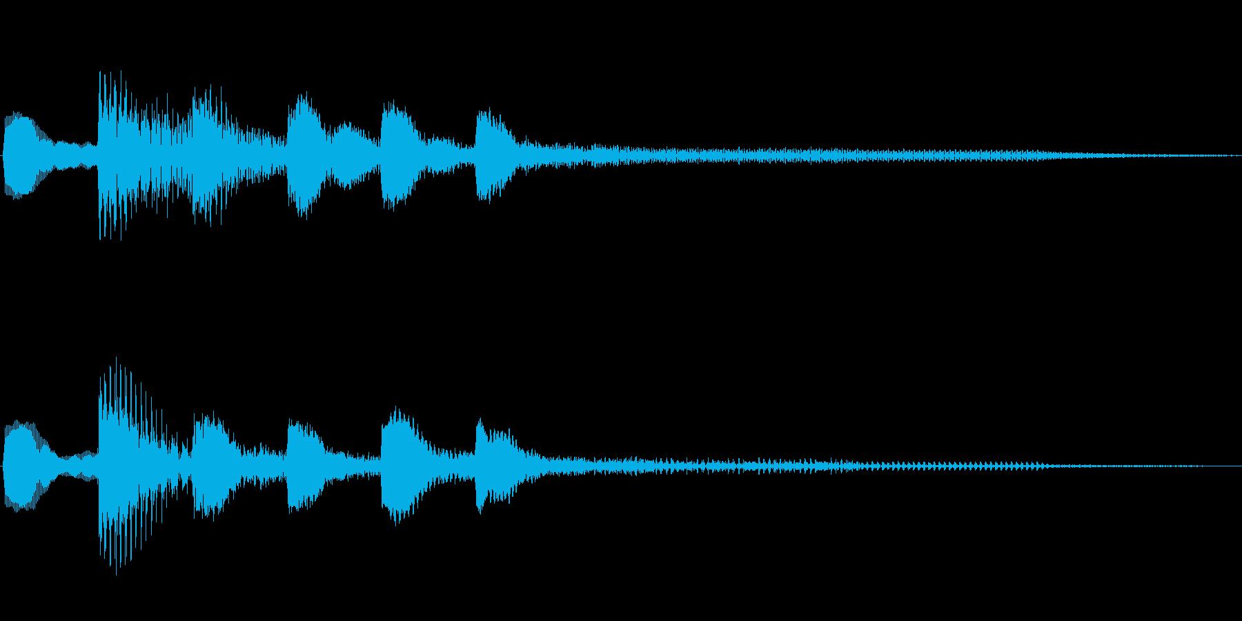 ジングル101fの再生済みの波形