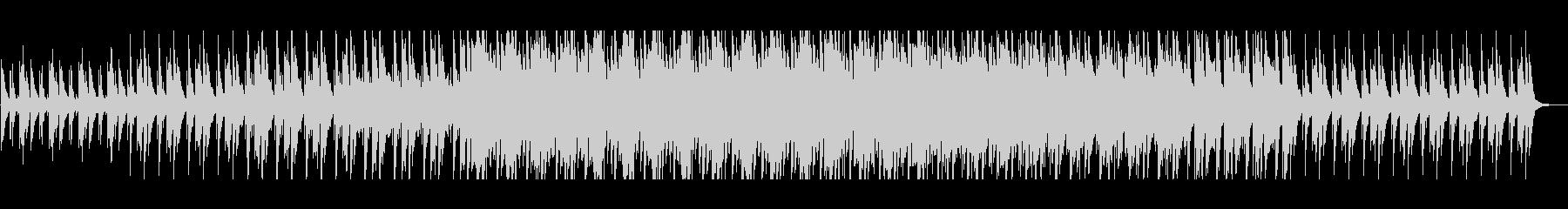 木琴とピアノの浮遊感あるループした曲の未再生の波形