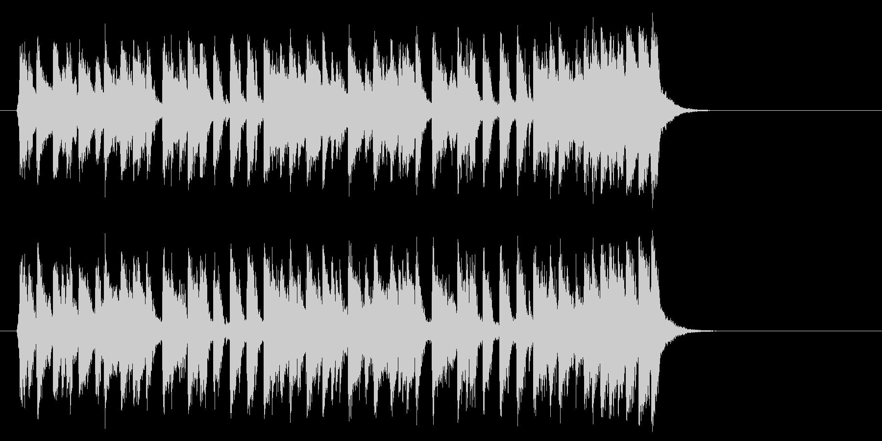 夏のフュージョンポップ(Aメロ)の未再生の波形