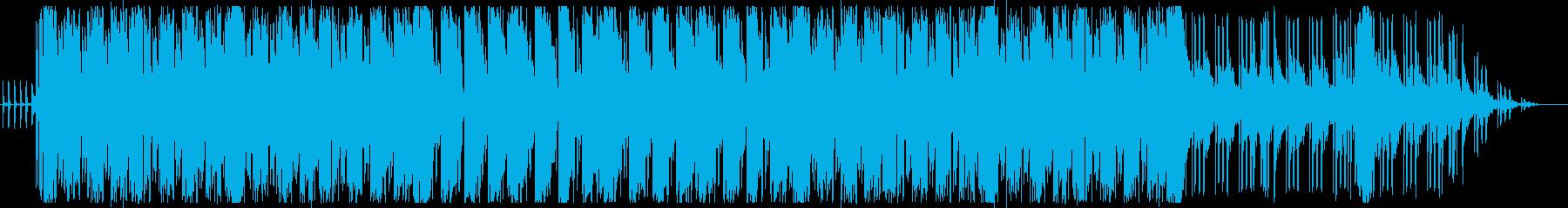 ドラムとギターのかっこいいファンクの曲の再生済みの波形