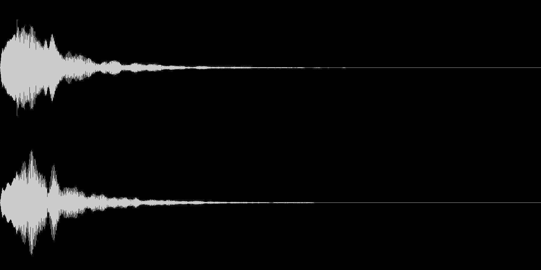 決定音18の未再生の波形