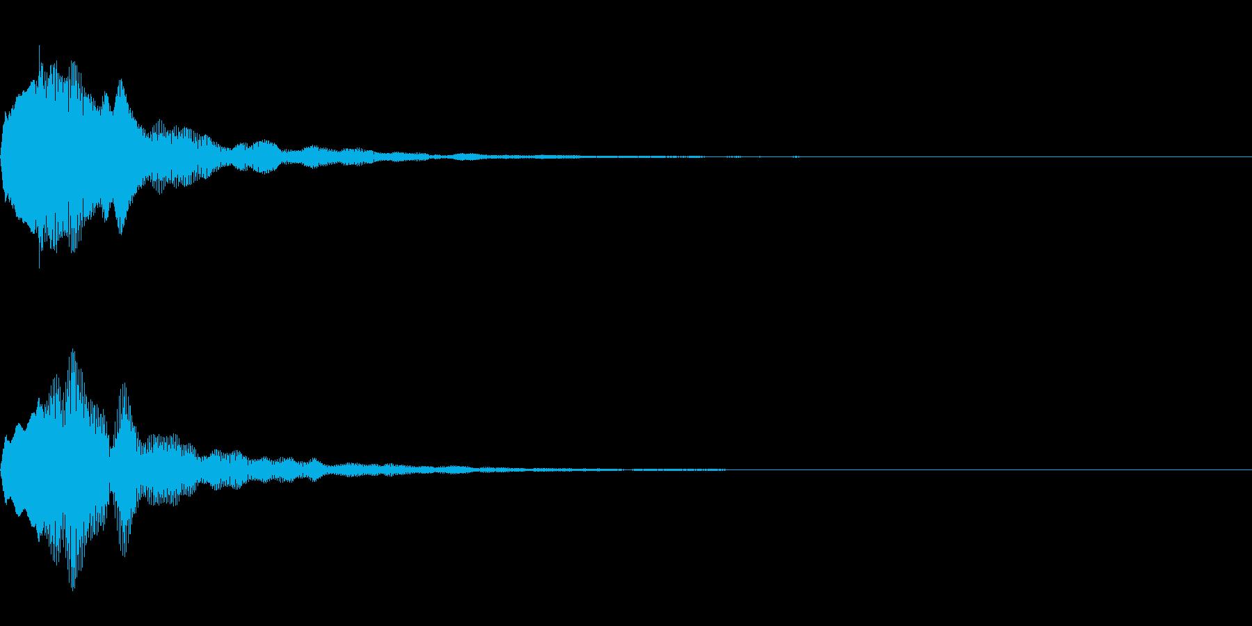 決定音18の再生済みの波形