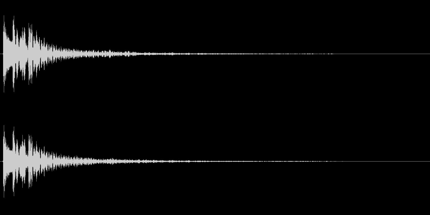 C-Min、残響多め、木琴系のMEの未再生の波形