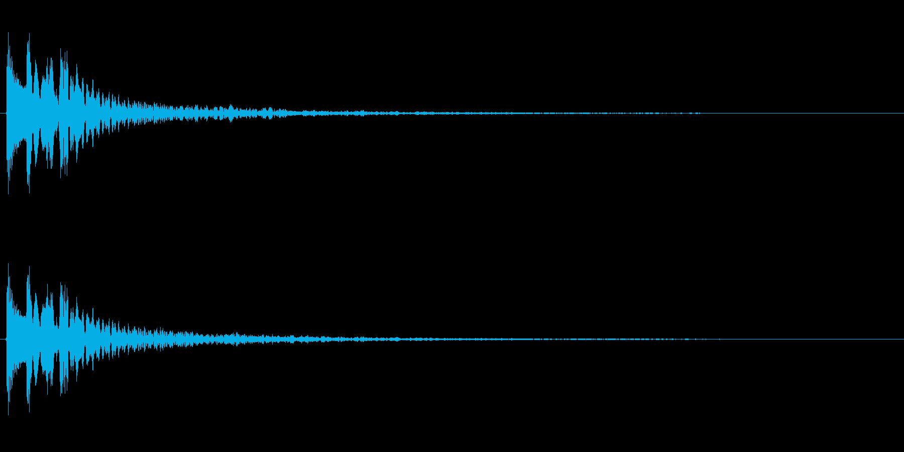 C-Min、残響多め、木琴系のMEの再生済みの波形